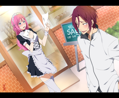 Commission - Free: OC Mel and Rin Matsuoka by dannex009