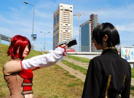 Kallen and Lelouch cosplay by Sandman-AC