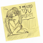 I MISSED YOU, BROTHER. by rompopita