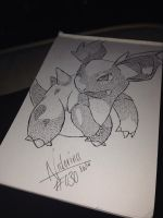#030 - Nidorina by poke-dots