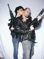 Couple With Guns 5 by cyber-stock