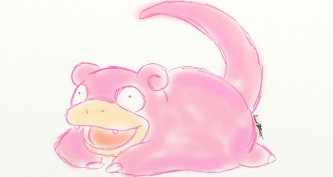 Slowpoke Sketch by Kurosakou