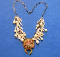 Mama octopus guarding her eggs - necklace. by JellyVision