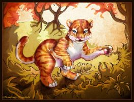 Autumn Tiger Cub by Kahmira