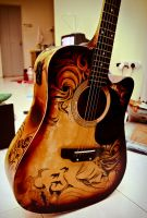 Guitar Sharpie Art 4 by ZeonFlux