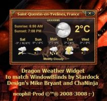 Dragon Weather Widget by neophil