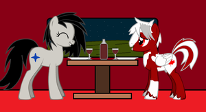 Canadai and Starlight on a Date by Imp344