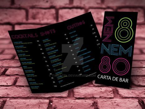 Nem 8 nem 80 - Bar menu by taniacpl