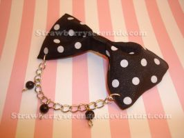 Black Polka Dot Bow Accessory by Strawberryserenade