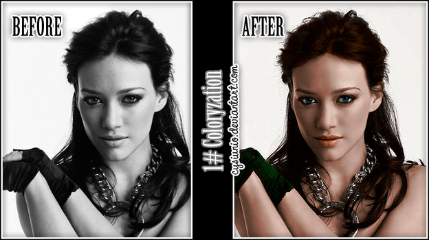 1 Coloryzation Hilary Duff by Cysiunio