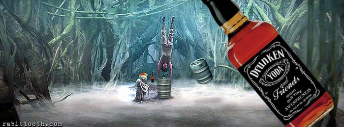 Drunken Yoda and  Friends (Custom Facebook Cover) by Rabittooth