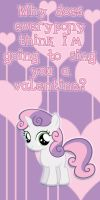 Sweetie Belle Valentine Card by Kurenai-Hio