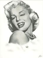 OLD WORK:Marilyn Monroe by lovelyzitalee