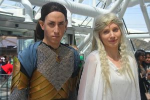 The Lord of the Rings - Elrond and Galadriel II by charlottepiref