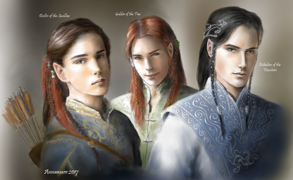 Lords of Gondolin WIP: Duilin, Galdor, Ecthelion by annamare