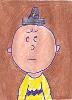 Charlie Brown's pilgrim hat is too small by dth1971