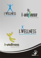 i wellness logos by mezoomar