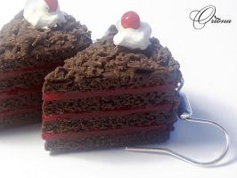Chocolate cake with cherries 2 by OrionaJewelry