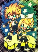 Rin and Len by KawaiiDarkAngel