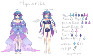 Aquarika Ref sheet by Aquarika