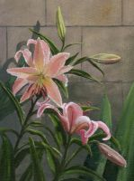Watering the Lilies by artofmaxielee