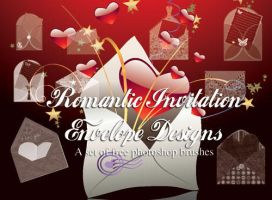 Invitation Envelopes PS Brush by fiftyfivepixels