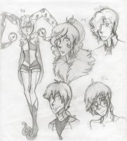 Circus Character Sketches by SpidersCircus