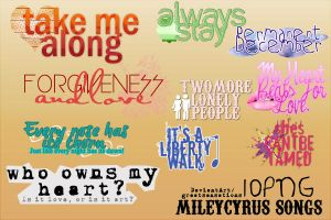 Png MILEY CYRUS SONGS by greatsensations