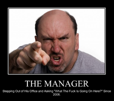 The Manager Demotivational Poster by ItsAPolarBear