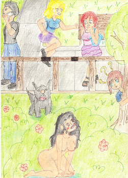 naked  at school  5 by Dianamcgarden