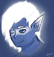Blue Elf - character idea by SpookyNonsense