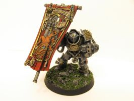 Grey Knight Banner Bearer by Indefiknight