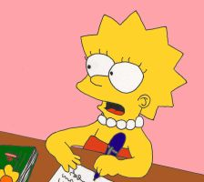 .lisa simpson by dragonlorest