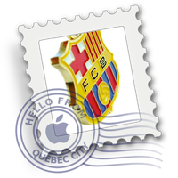 Mac Mail FC Barcelona Icon by itsAerosol