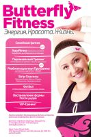 poster for fitness butterfly. by sounddecor