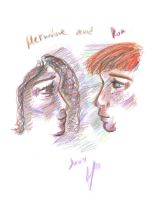 Ron and Hermione by Arlome