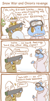 PKMNC- Snow War and Onion's Revenge by SilkenCat