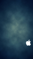 iPhone 5 Blue Wallpaper White Logo by SimpleWallpapers