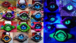 Custom Glow in the Dark or non Glow Dragon Eye by RaPVVNzel