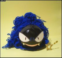 Shiny Gastly Plushie by Sabbochan