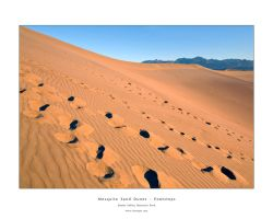 Mesquite Sand Dunes, Footsteps by welder