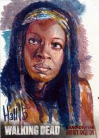 walking dead 2015 sketch card 3 by charles-hall