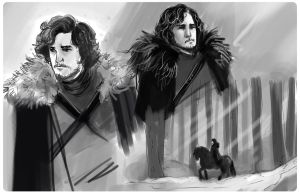 Games of thrones - Jon Snow - rought by fifoux
