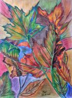 Reproduction after Fall Leaves by Cathi Kiser by Viamar