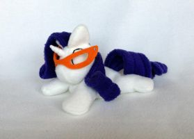 Rarity beanie plush with glasses by Bewareofkitty