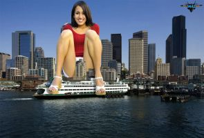 Giantess in Seattle by MAZ-629999