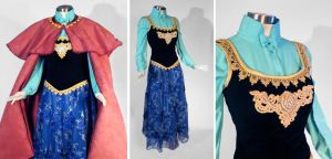 Frozen Anna Cosplay Costume by glimmerwood