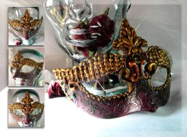Royal Orchid Mask by thedustyphoenix