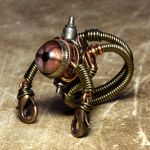 Stempunk jewelry Robot Ring by CatherinetteRings