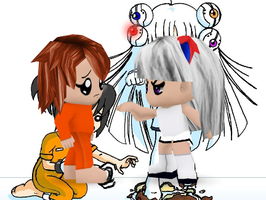 Glados and chell BP style by kellykasaneIzBACK